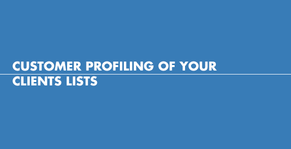 Customer profiling of your client lists